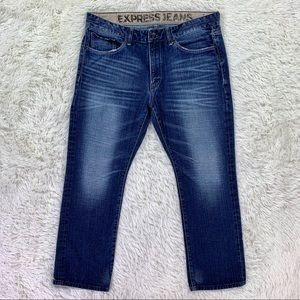 Express Rocco Slim Straight Low Rise Jeans 36x30